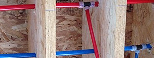 Home re-piping with PEX